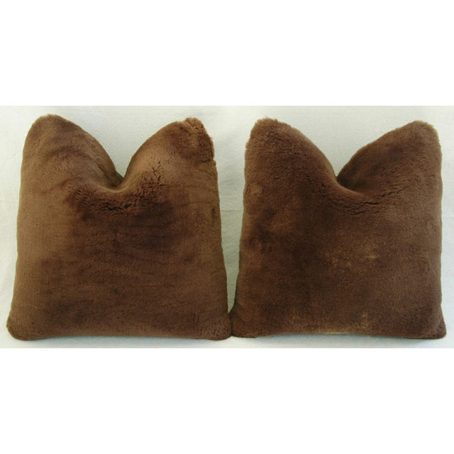 Pierre Frey Plush Lambswool Pillows - A Pair - Image 4 of 7
