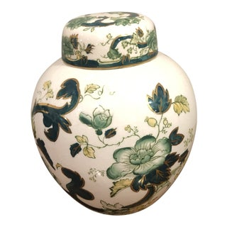 Mason Ironstone Chartreuse Ginger Jar For Sale