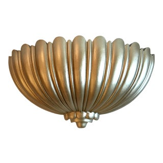 Mid Century Modern Syroco Gold Wall Planter For Sale