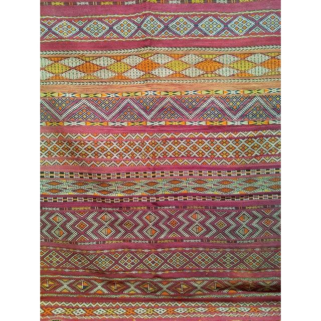 "Vintage Moroccan Kilim 5' 9"" X 10' For Sale - Image 9 of 11"