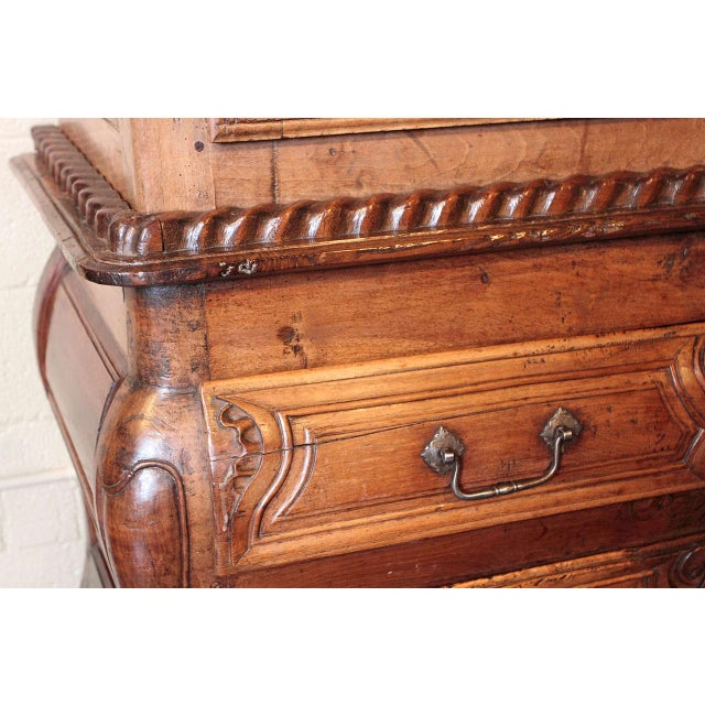 French Louis XV Walnut Armoire Pantalonniere - Image 8 of 10