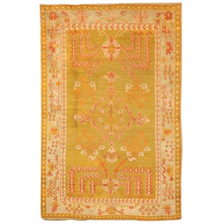 Antique 19th Century Turkish Oushak Rug For Sale