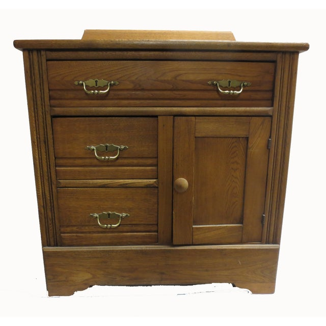 Oak Commode Cabinet - Image 6 of 8