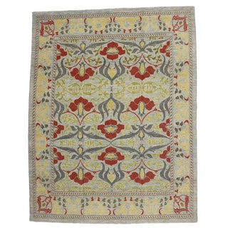 Turkish Oushak Rug With Arts & Crafts Style Inspired by William Morris - 11'07 X 14'10 For Sale