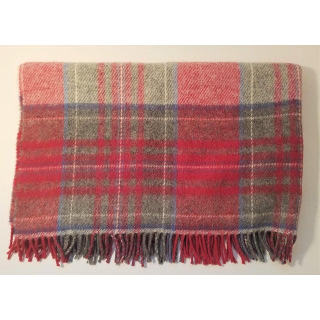 Lanerossi Italian Plaid Wool Blanket - Image 4 of 4