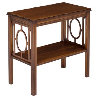 Chippendale-Style Fretwork Side Table For Sale