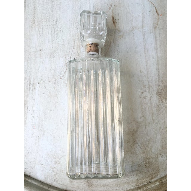 Art Deco Prohibition Era Tall Glass Liquor Bottle - Image 6 of 8