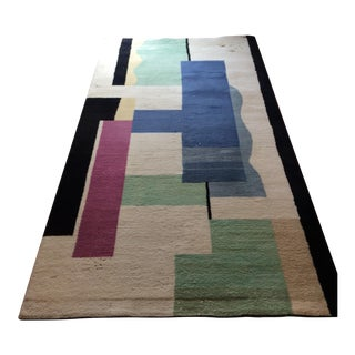 "Fernand Leger 'Blanc' Hand Knotted Tapis Carpet -- 4'6"" X 8'6"" For Sale"