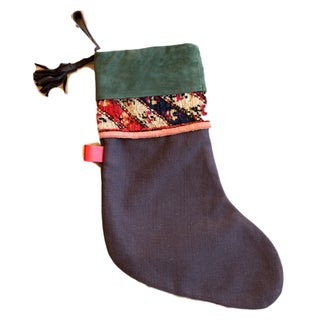 Green Rug Fragment Stocking For Sale