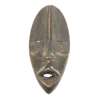 African Ghana Hand Carved Wood Mask For Sale
