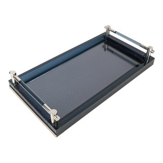 Silia Italian Python and Lucite Tray For Sale