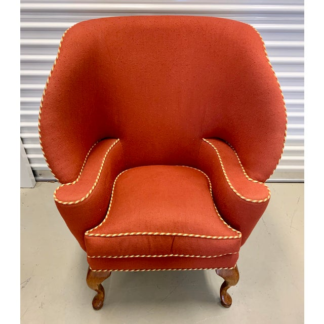 Minton Spidell Papa Bear Upholstered Chair Sculptural Wingback Chair For Sale - Image 12 of 12