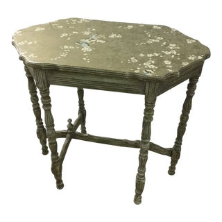 Shabby Chic Green Paper Overlay Side Table