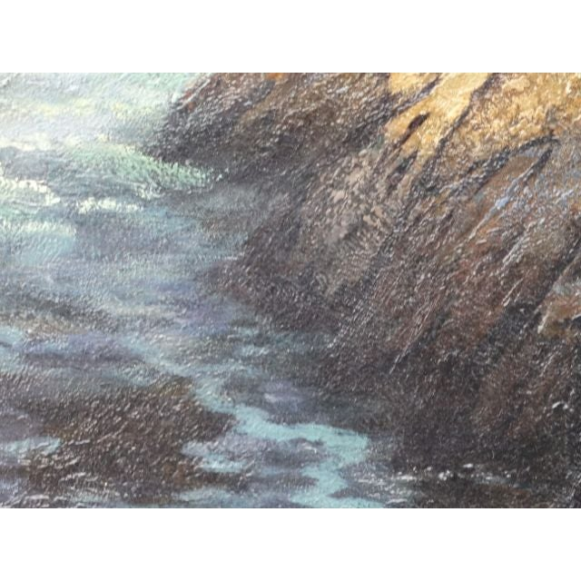 DeWitt Parshall Point Lobos Oil on Canvas - Image 4 of 10