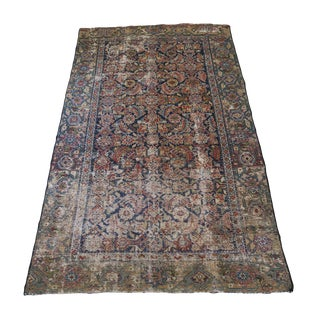 Antique 3.6' X 6.25' Hand Knotted Wool Rug