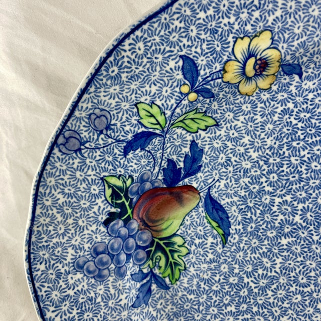 Ceramic 1920s Copeland Spode George III Pattern Platter for Harrods of London For Sale - Image 7 of 13