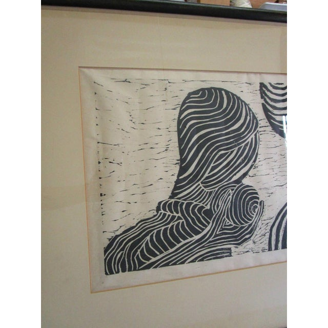 Vintage Black and White Lithograph - Image 2 of 5