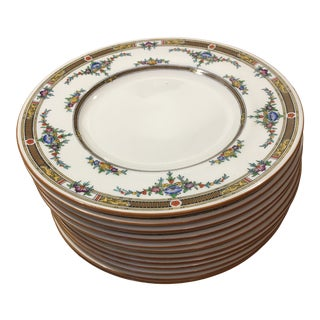 Antique Mid 19th Century Minton Bone China Dinner Plates - Set of 12 For Sale