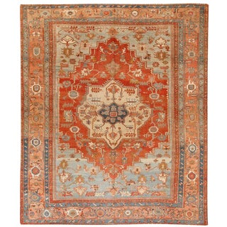 Antique Persian Serapi Carpet For Sale