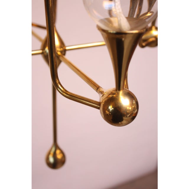West German Brass and Glass Oil Lamp Candelabra by Freddie Andersen - Image 4 of 9