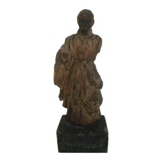Antique 18/19th C. Wooden Philippine Santos Statue For Sale