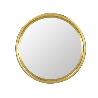 Round Brass Mirror For Sale