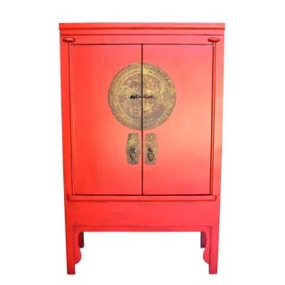 Chinese Red Wedding Cabinet For Sale