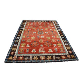 Mid-Century Folk Art German Shag Rug (8 Ft X 11 Ft 2 In) For Sale