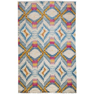 "Ikat Hand Knotted Area Rug - 6' 0"" x 9' 3"""