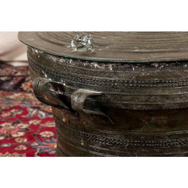 Bronze South Asian Bronze Rain Drum Table For Sale - Image 7 of 10