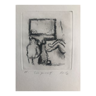 """""""See Yourself"""" Etching by Dellas Henke, 1978 For Sale"""