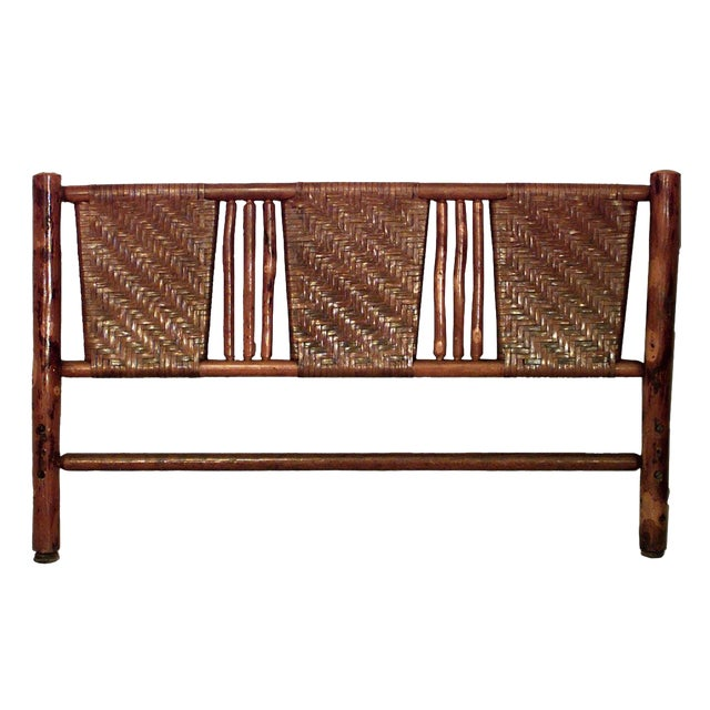 20th Century American Old Hickory Full Size Woven Bed For Sale
