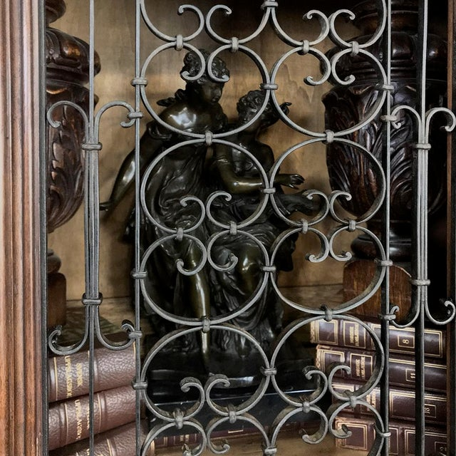 Antique Italian Renaissance Walnut Curio Cabinet For Sale - Image 9 of 13