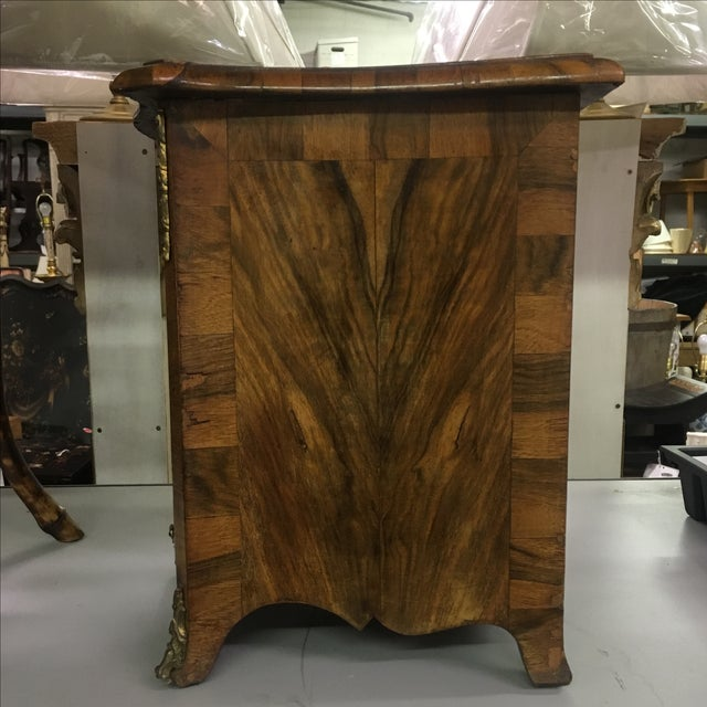Wood Antique Miniature French Walnut Two-Door Cabinet For Sale - Image 7 of 8