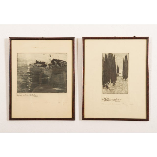 Marianne Hitschmann-Steinberger Etching From 1900 Set of Two For Sale - Image 10 of 10