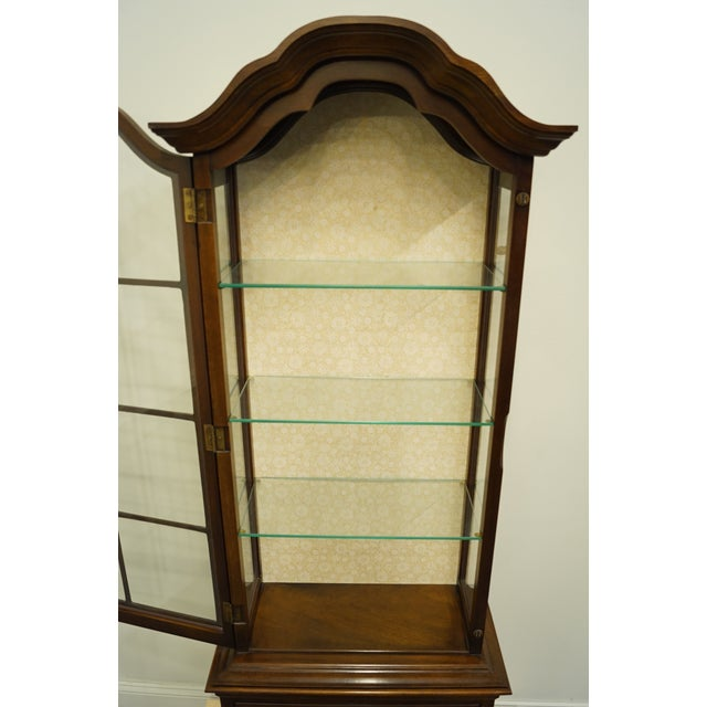 """Late 20th Century 20th Century French Country Brandt 25"""" Illuminated Curio Display Cabinet With Bonnet Top For Sale - Image 5 of 13"""