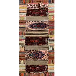 """Vintage Patchwork Runner- 3'x13'4"""" For Sale"""