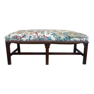 Early 20th Century Vintage Chippendale Window Bench For Sale
