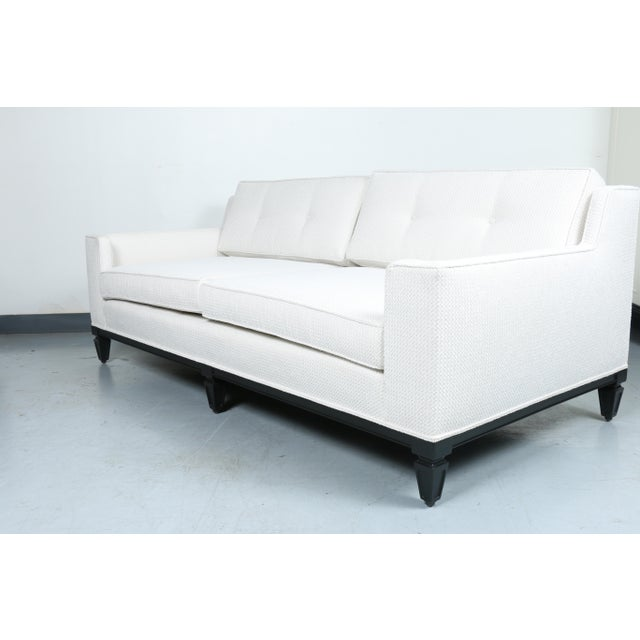 Oriental Style Mid Cemtury Love Seat Sofa For Sale - Image 4 of 11