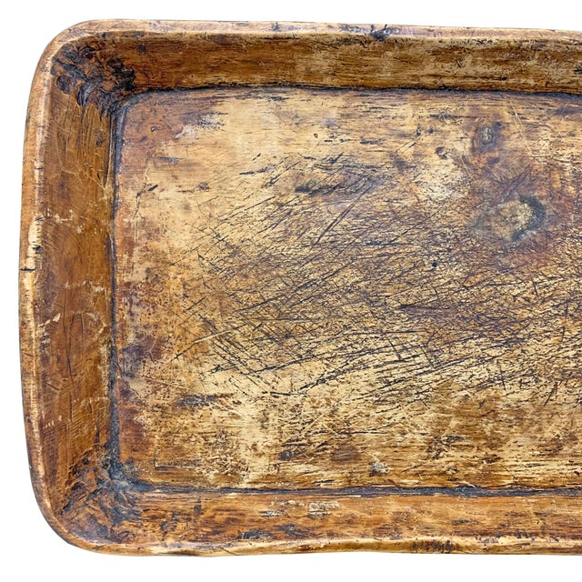 Brown 19th Century Carved Wood Tray For Sale - Image 8 of 10