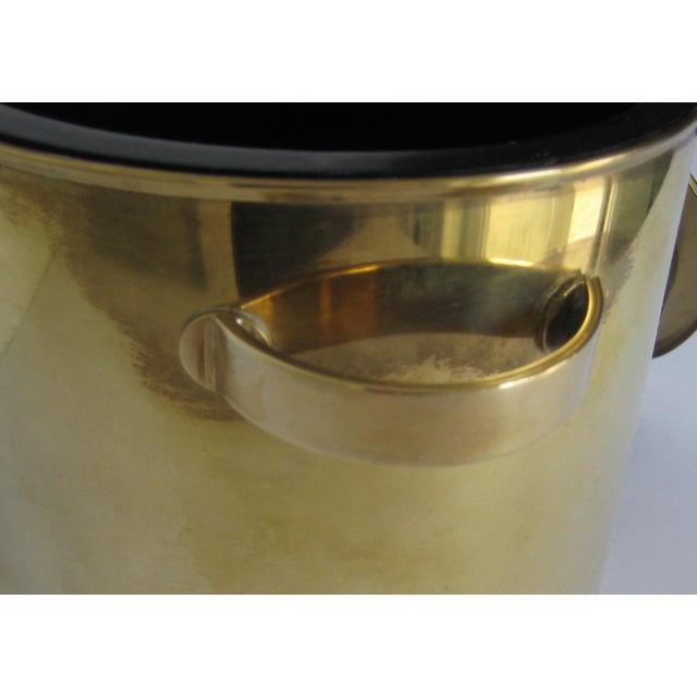 Mid-Century Italian Brass & Teak Ice Bucket - Image 9 of 13