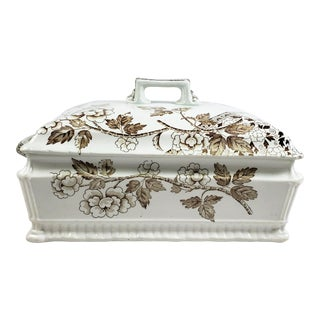 """Antique Staffordshire Lidded Serving Dish by Foley Potteries """"Albert"""" Pattern For Sale"""