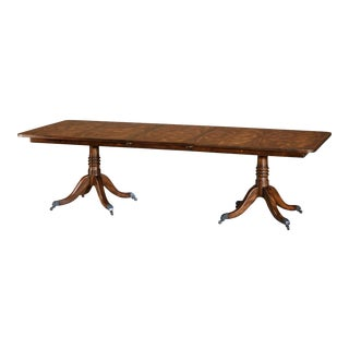 Regency Mahogany Extending Dining Table For Sale