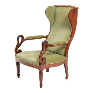 Late 19th Century Empire Wingback Chair For Sale