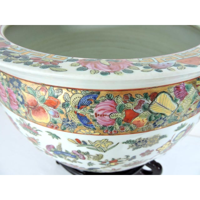 Blue Early 20th Century Antique Chinese Qianlong Porcelain Planter For Sale - Image 8 of 11