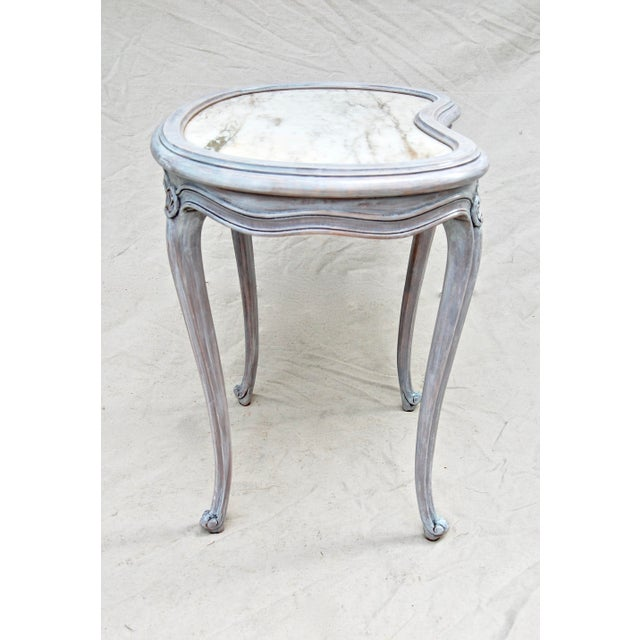 Early 19th Century French Kidney Shape Marble Top Table For Sale - Image 5 of 12