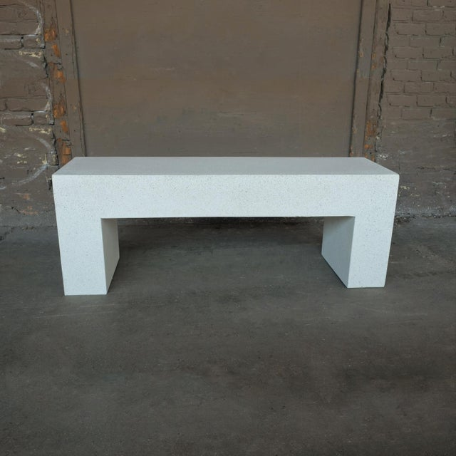 The Aspen bench is versatile. Pictured in our white stone finish, the texture and modern look of concrete make it...