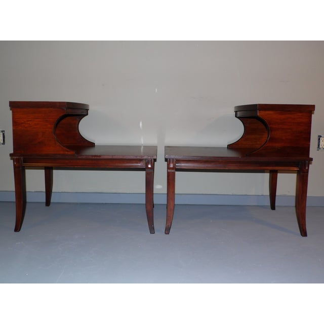 Federal Vintage Federal Style Step Sabre End Tables - A Pair For Sale - Image 3 of 10