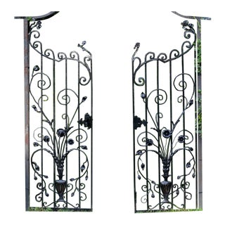 Floral Gates- A Pair For Sale