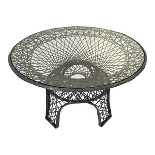 Mid-Century Modern Spun Charcoal Fiberglass Dining Table For Sale